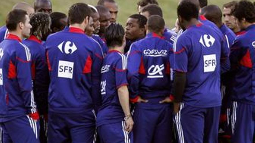 Entrenamiento de la selección de Francia. (EUROPA PRESS)