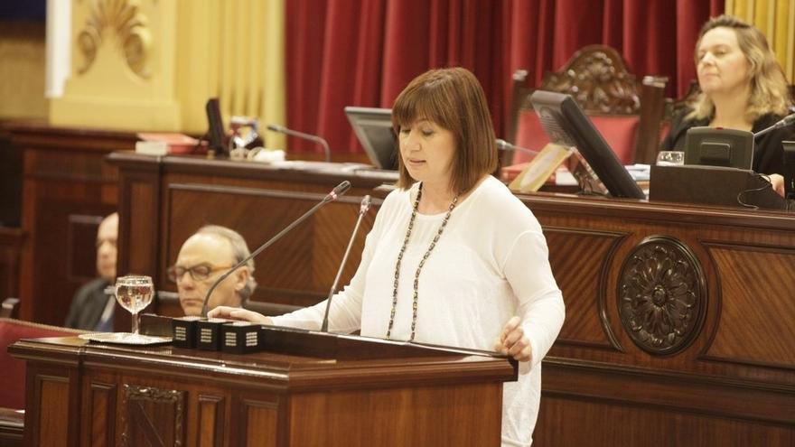 La presidenta de Baleares comparece esta semana en el Parlament para explicar su situación patrimonial