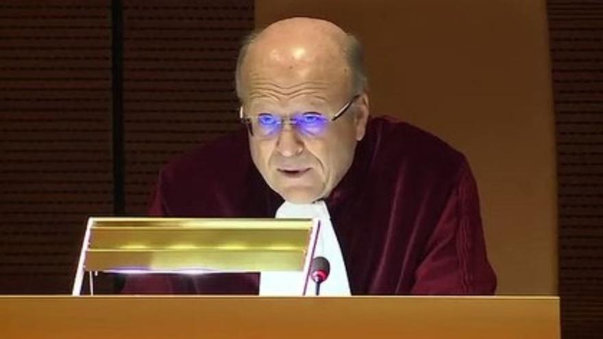 El presidente del Tribunal de Justicia de la Unión Europea, Koen Lenarts