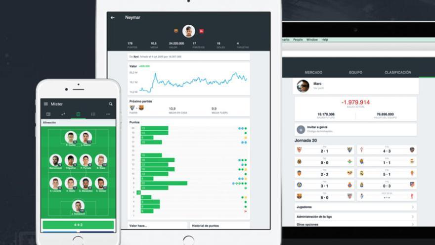 Mister, una app de 'fantasy' fútbol creada por la startup española 3 Match Games.