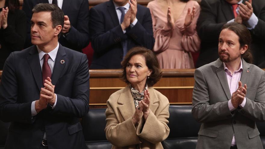 """El Gobierno, satisfecho con la posición """"muy institucional"""" de Unidas Podemos ante el Rey"""