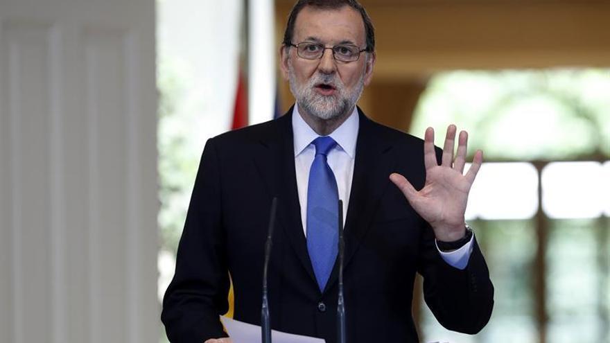 Mariano Rajoy, durante la rueda de prensa de balance del curso político