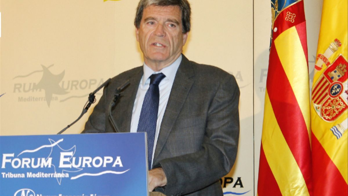 El president de l'Autoritat Portuària de València, Aurelio Martínez, en el Fòrum Europa.