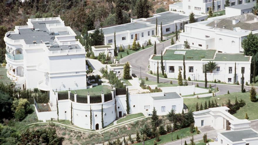 Marbella (Málaga), año 1985.- Vista general de la casa del rey Fahd de Arabia Saudí en Marbella.