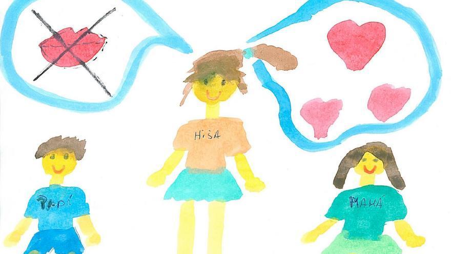 Dibujo realizado en tiempo de espera por una niña de 6 años.