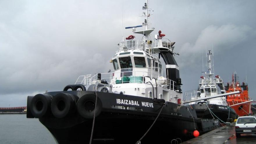 Uno de los remolcadores de la empresa Ibaizabal