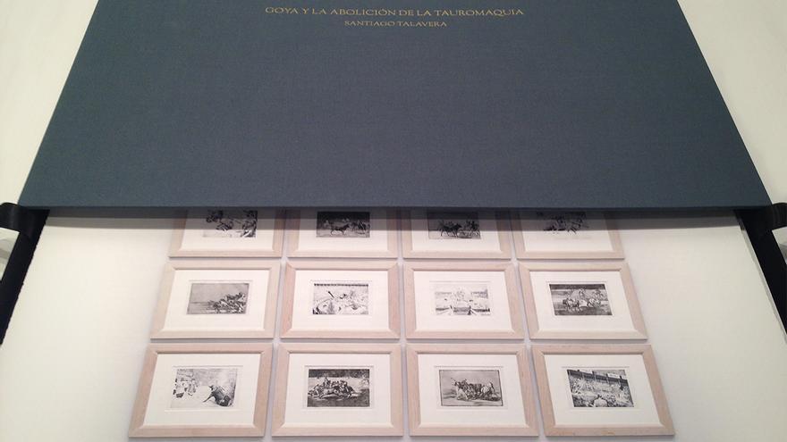 Goya y la abolición de la tauromaquia, caja del artista Santiago Talavera
