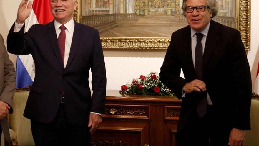 Almagro aplaude la decisión de Cartes de renunciar a la posible reelección en 2018