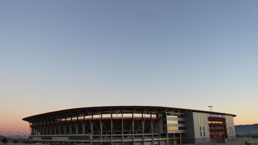 Estadio Nueva Condomina, al norte de Murcia, junto a la A-7 / PSS