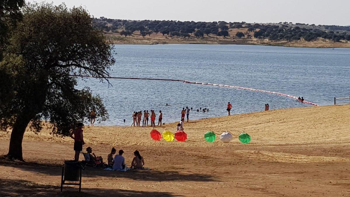 La nueva playa de El Viso.