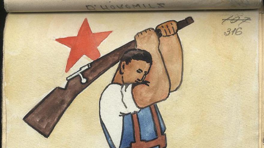 Ilustración del diario 'Asi si Maine' de voluntarios rumanos.