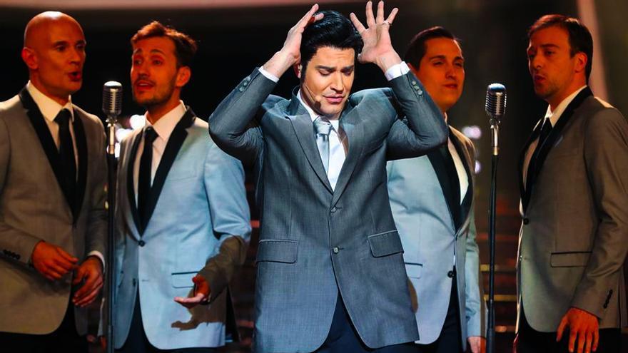 """Miquel Fernández como Elvis Presley en """"TCMS"""""""