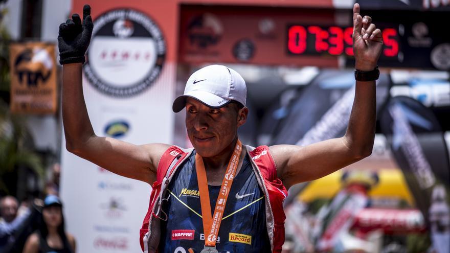 El corredor peruano Remigio Huamán.