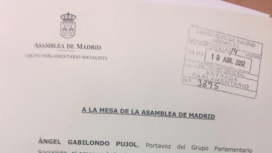 Petición de comparecencia de Ángel Garrido tras la detención de Ignacio González