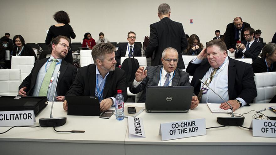 Grupo de negociación en la COP21.