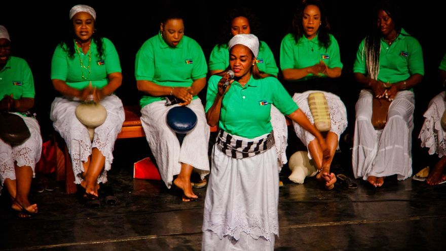 Coucounette, grupo de Cabo Verde, en el festival Ci La Bokk.