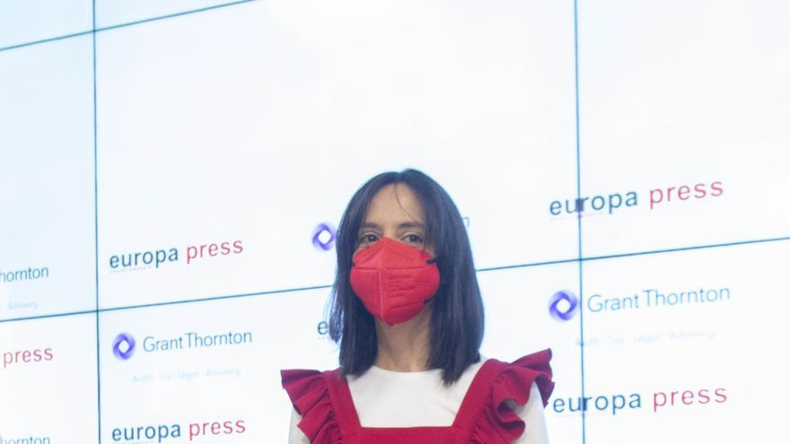 La delegada del Gobierno en la Comunidad de Madrid, Mercedes González, protagoniza un  Desayuno Informativo de Europa Press en el Auditorio Meeting Place, a 28 de junio de 2021, en Madrid (España).