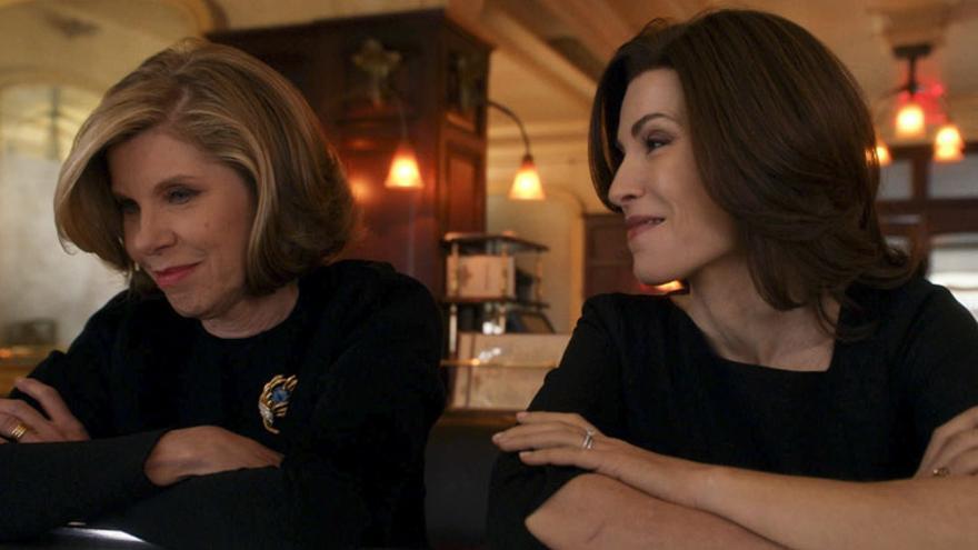 Diane y Alicia siendo las mejores en 'The Good Wife'