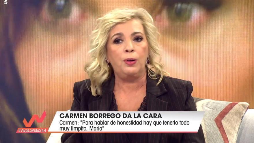 Carmen Borrego durante su intervención en 'Viva la vida'