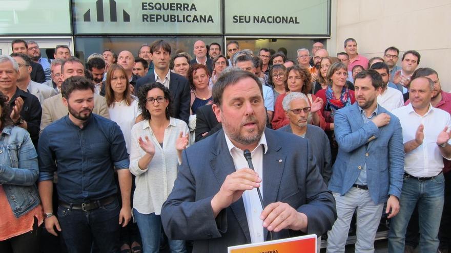 """Junqueras pide la dimisión de Rajoy y le acusa de """"actos criminales"""" contra ERC"""