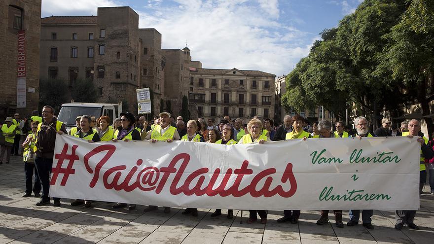 Manifestación de los #Iaioflautas en su primer aniversario