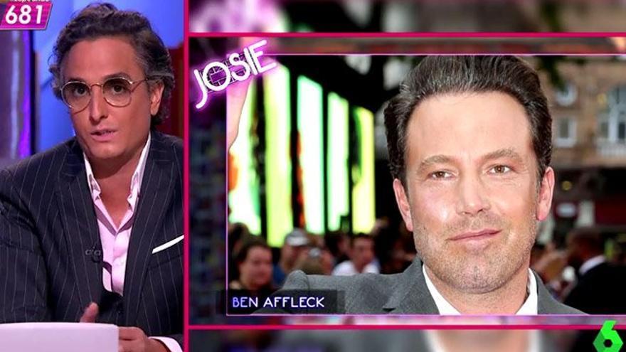 Josie pide 'un minuto de silencio' por Ben Affleck en 'Zapeando'