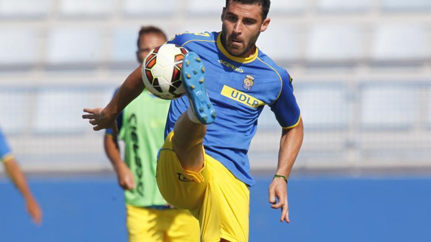 El delantero Benja, en un entreno con la UD Las Palmas. Foto: Carlos Díaz Recio/udlaspalmas.es