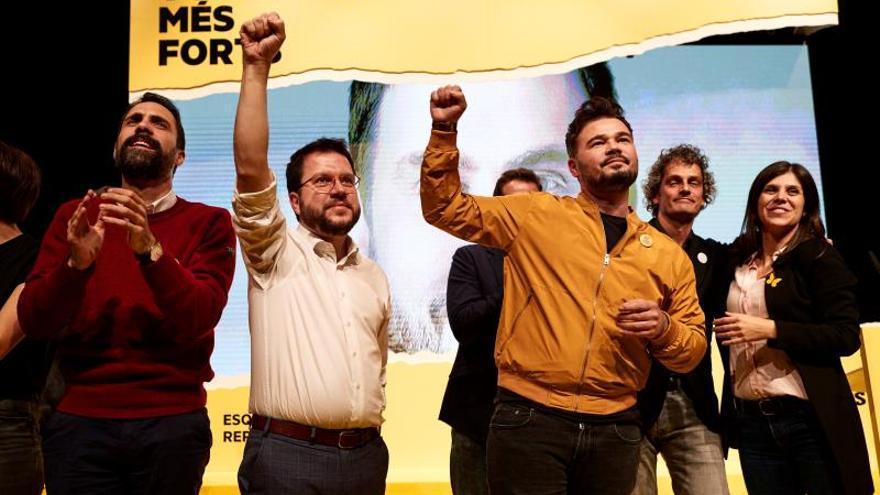 Aragonès pide votar ERC para que Cataluña sea la tumba política de Cs y PSOE