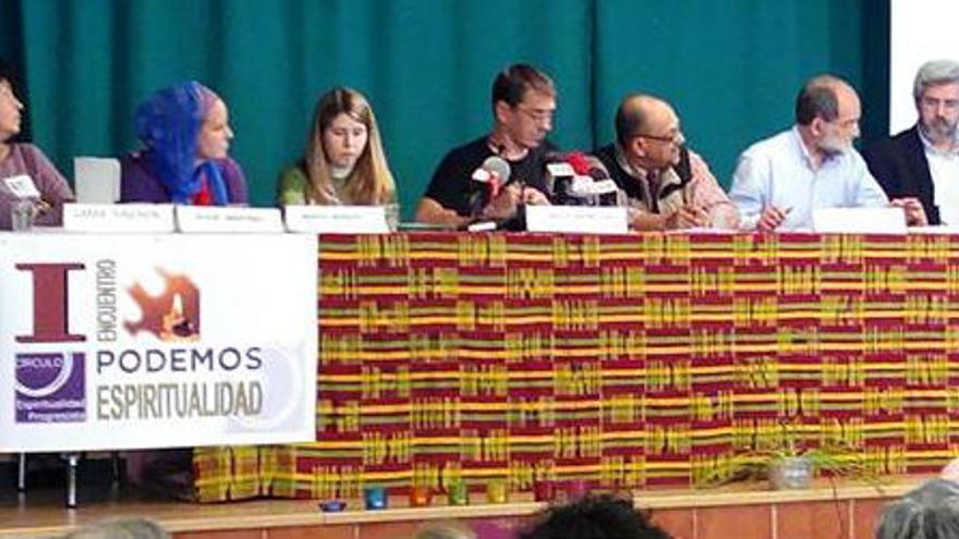 Juan Carlos Monedero, en el encuentro del Círculo de Espiritualidad Podemos