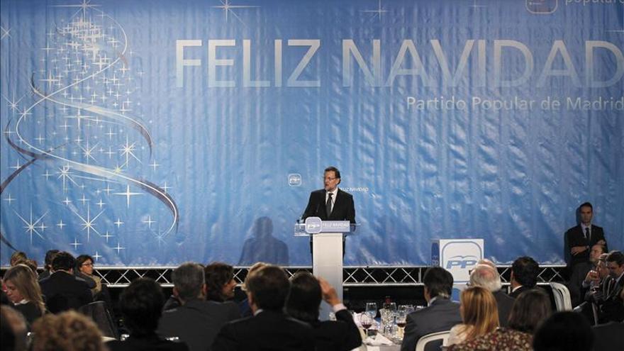 Mariano Rajoy, en la celebración navideña del PP madrileño.