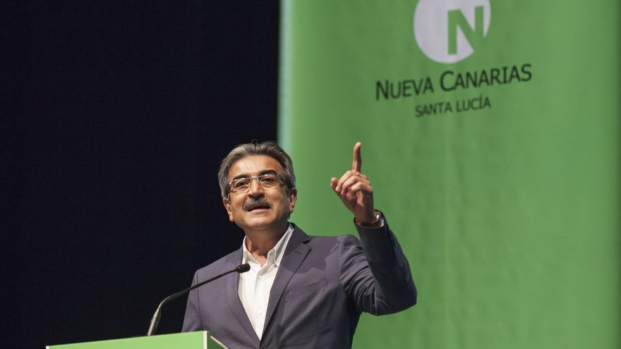 Román Rodríguez, en un acto de precampaña celebrado en Vecindario.