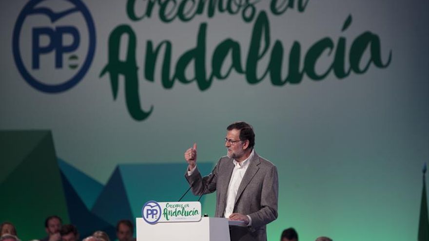 Rajoy: el PP está ya en condiciones de ganar y gobernar en Andalucía con Moreno