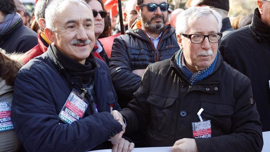 Álvarez y Toxo defienden el jueves en el Congreso la ILP de la Renta Mínima