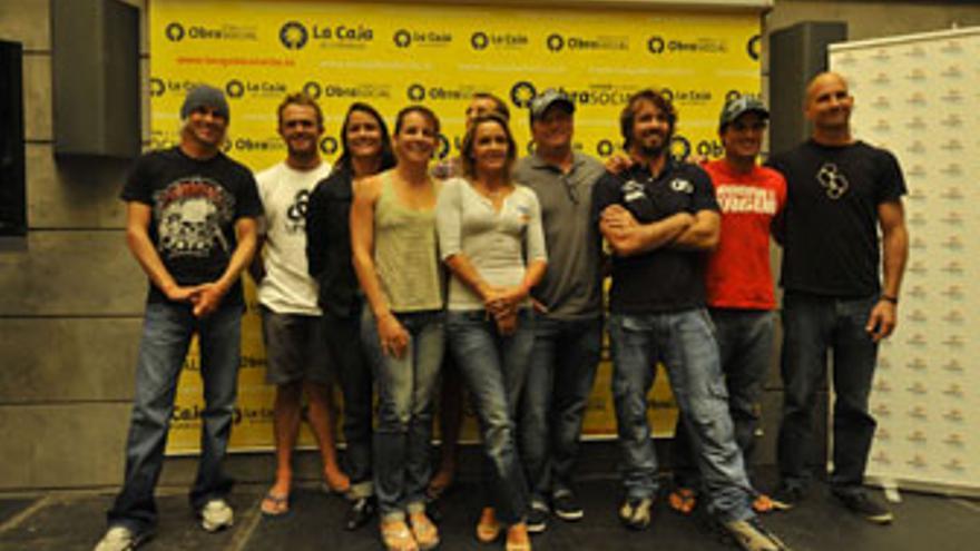 Nueve campeones del mundo de bodyboard. (CANARIAS AHORA)