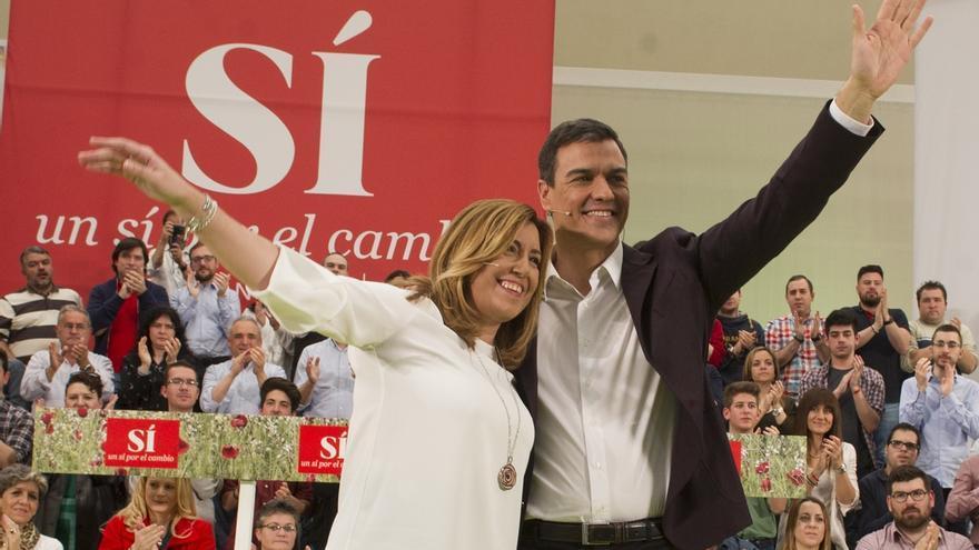 Pedro Sánchez y Susana Díaz participan hoy en Granada en su primer acto conjunto de precampaña en Andalucía