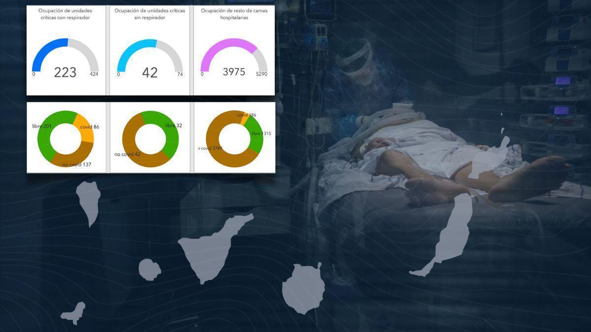 Últimos datos de ocupación UCI en Canarias