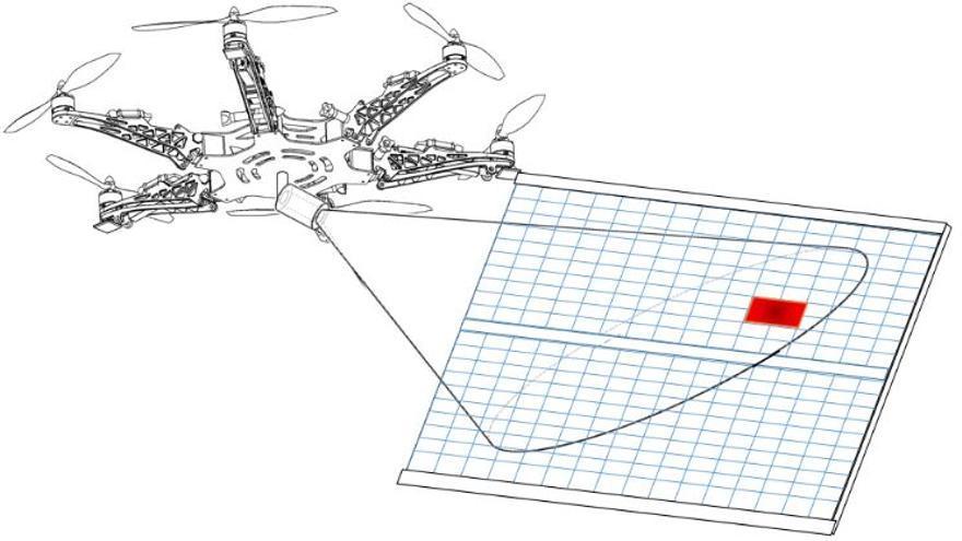 Dron trabajando sobre placa solar / Ingenium