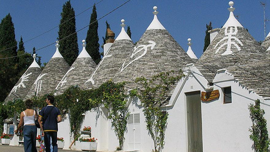 Trullos en Alberobello, una de las postales típicas de La Puglia. Andrea Passoni