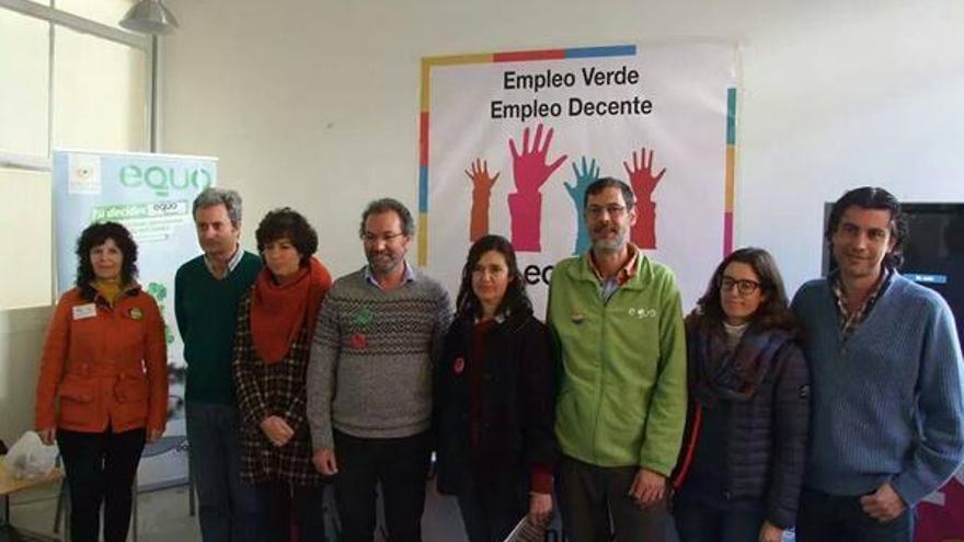 Coportavoces de EQUO junto a miembros de la Comisión Ejecutiva en Andalucía.