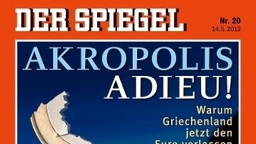 "Portada 'Der Spiegel' ""Akropolis Adieu!"""