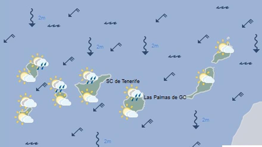 Mapa con el tiempo previsto mañana, jueves 15 de septiembre
