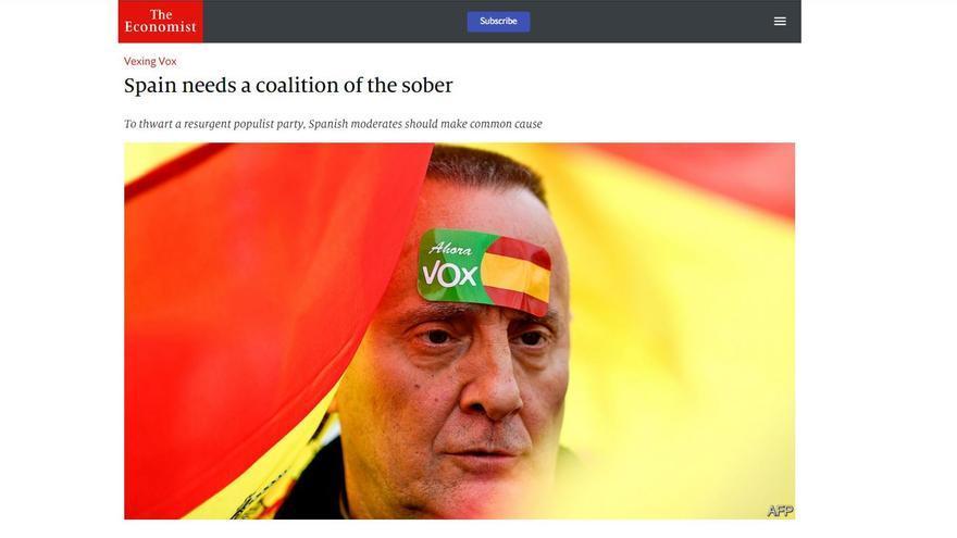 'The Economist' que cuestiona la decisión de Rivera por descartar un pacto con el PSOE tras las elecciones generales