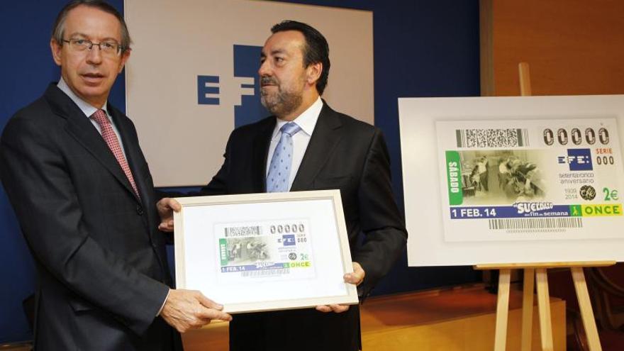 5,5 millones de cupones de la ONCE llevan la imagen de Efe por toda España