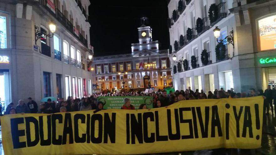 Manifestación en defensa de una educación inclusiva.