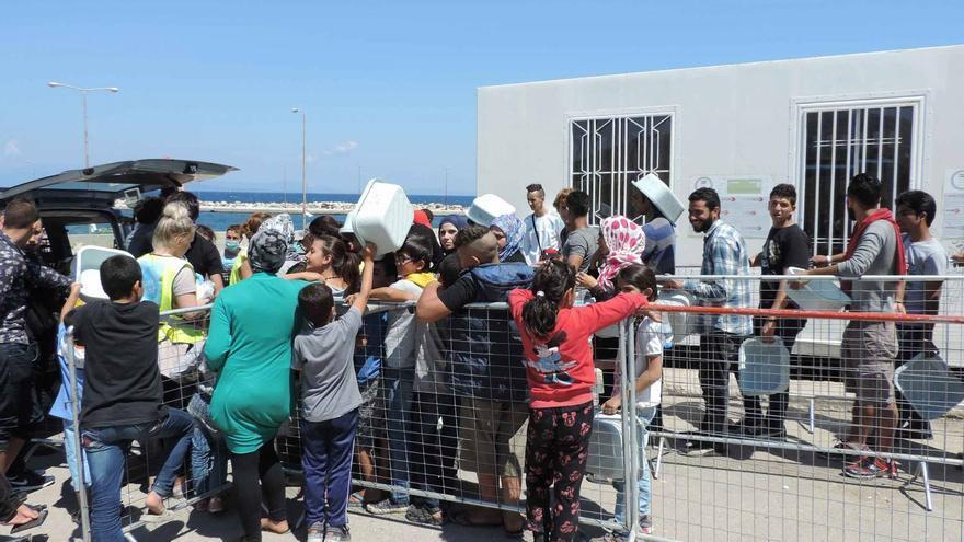 Zaporeak ha trabajado más de un año en el asentamiento de refugiados de la isla de Quíos (Grecia)