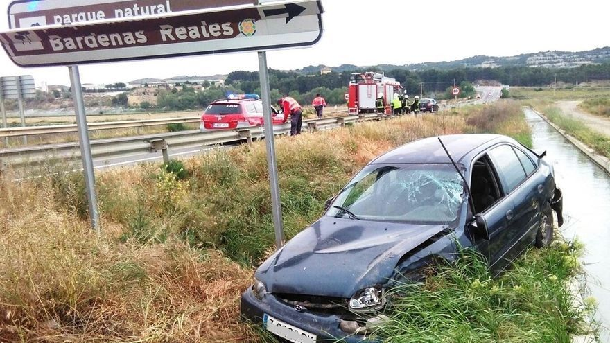 Policía Foral investiga una salida de vía en Arguedas al no encontrar al conductor del vehículo