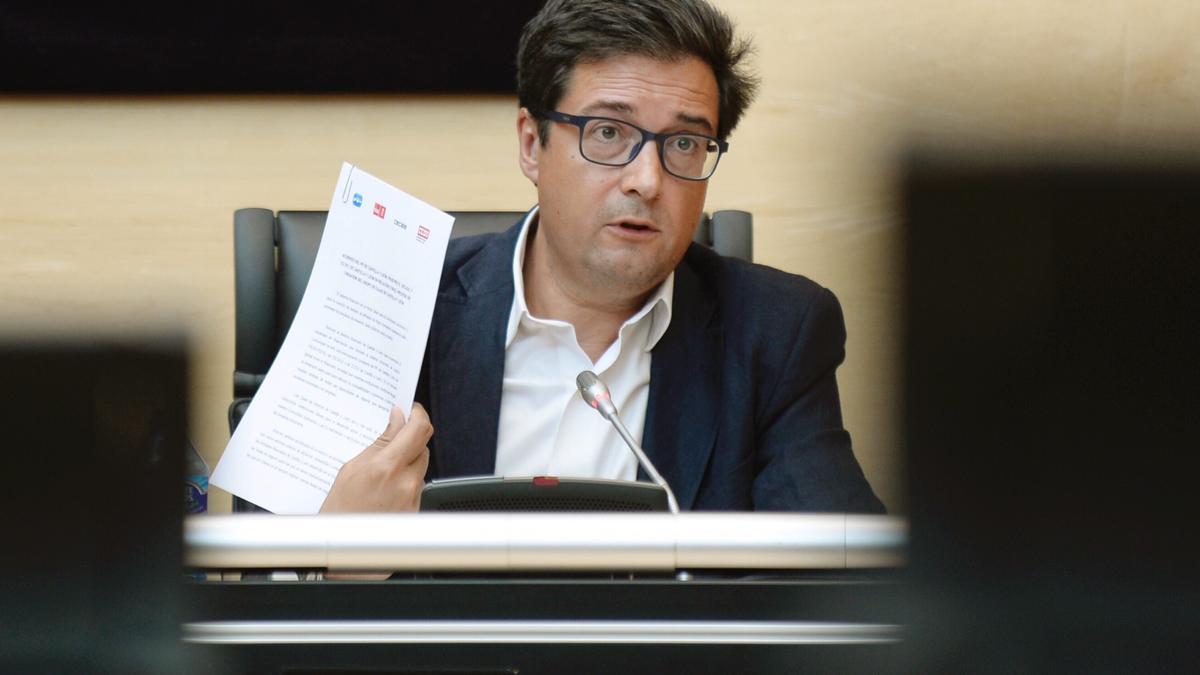 Óscar López, exsecretario de Organización del PSOE y nuevo jefe de gabinete de Sánchez en Moncloa. EFE/Nacho Gallego/Archivo