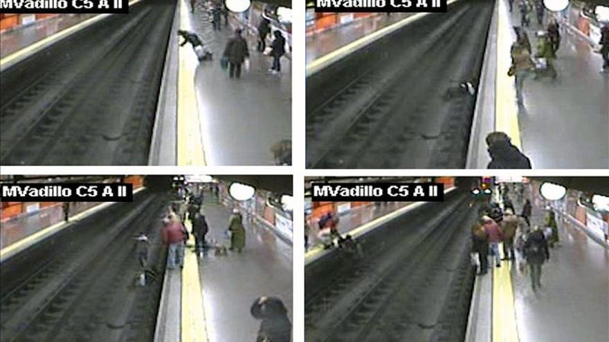 Interior condecorará al policía que salvó la vida a una mujer en el metro