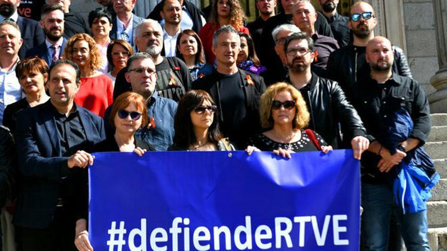"""Los trabajadores de RTVE reclaman """"un proyecto de futuro"""" y que se acabe la etapa de interinidad"""