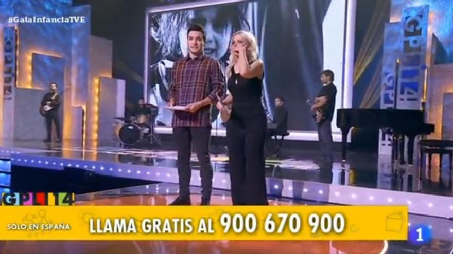 Momento de la 'Gala por la Infancia' que emitió TVE el pasado 22 de diciembre // FOTO: rtve.es